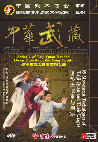 Yang-style Taiji Quan of 85 Movement Techniques of Taiji Quan and Their Usages (6 DVD)