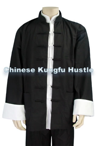 Mandarin Collar Shirt Jacket (Cotton Plain)
