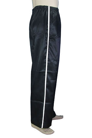 Mandarin Pants w/ Side Stripe (Cotton Fine Twill)