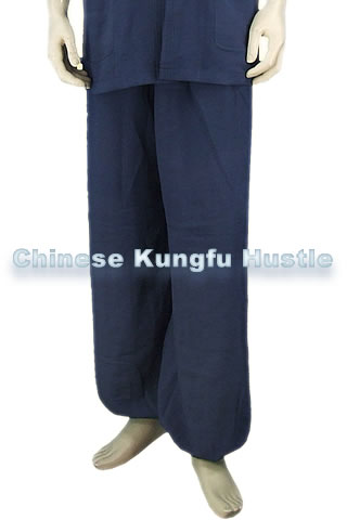 Wudang Tangzhuang Style Pants (Thick Cotton Linen)