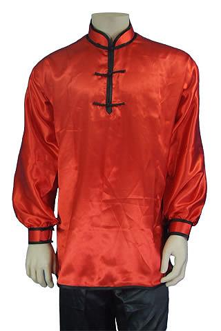 Mandarin Collar Pullover Duangua (Satin)