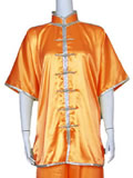 Short-sleeve Mandarin Collar Duangua (Satin)