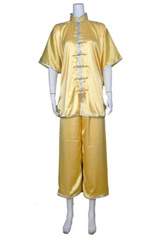 Short-sleeve Mandarin Collar Duangua (Satin)