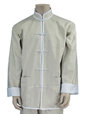 Mandarin Collar Jacket (Cotton Twill)