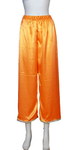 Mandarin Pants w/ Edge Piping (Satin)