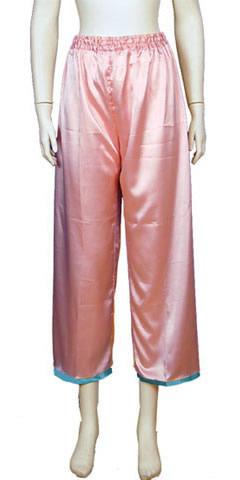 Mandarin Pants w/ Edge Piping (Satin)