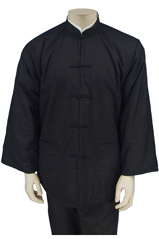 Mandarin Collar Jacket (Wadded Cotton Plain)