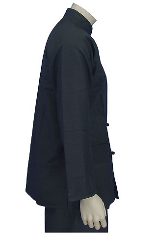 Mandarin Collar Jacket (Wadded Cotton Twill)