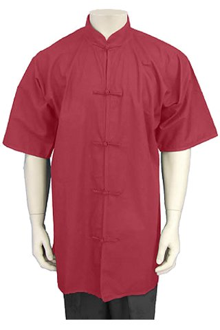 Short-sleeve Mandarin Collar Duangua (Cotton Plain)