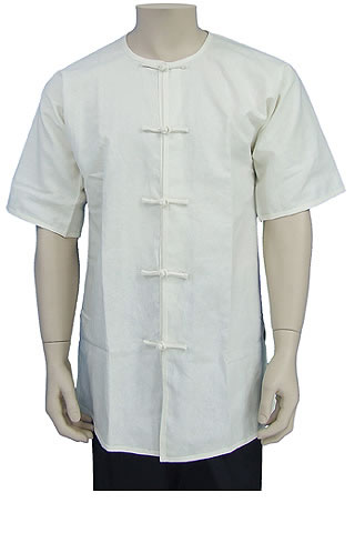 Short-sleeve Round Collar Duangua (Cotton Linen)