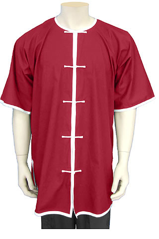 Short-sleeve Round Collar Duangua (Satin)