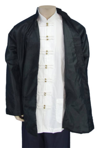 No Button Mandarin Collar Jacket (Cotton Twill)