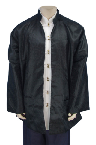 No Button Mandarin Collar Jacket (Brocade)