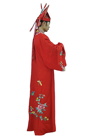 Tang Dynasty Hanfu Dress with Hat (Polyester)