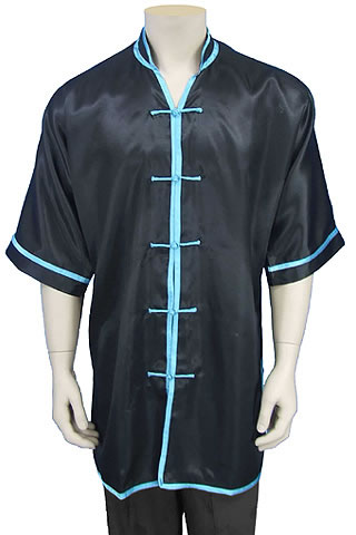 Short-sleeve V-collar Duangua (Satin)