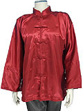 Mandarin Collar Jacket (Satin)