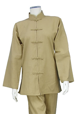 Mandarin Collar Jacket (Cotton Linen)