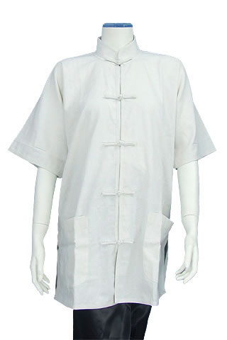 Short-sleeve Mandarin Collar Duangua (Silk)
