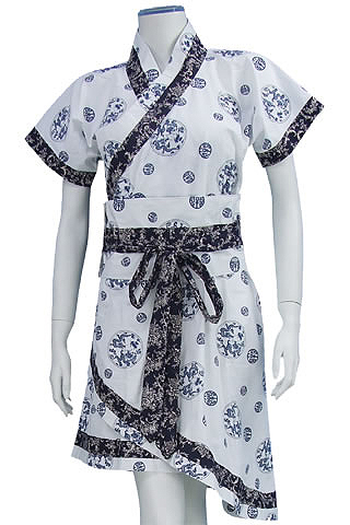 Chinese Short Hanfu Dress (Cotton Plain)