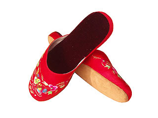 Chinese Handmade Silk Embroidery Slippers