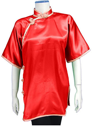 Women's Short-sleeve Plain Performance Duangua (Satin)